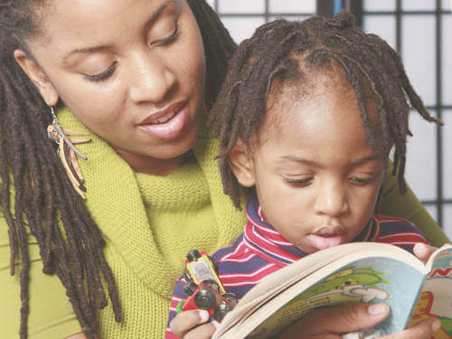 VIG involves viewing and discussing with parents/carers some best moments in their interactions with a child, such as reading together